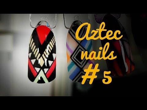 💅💅 Aztec Nails 💅💅 :: Azteckie zdobienie #5 :: Nailart by Natalia