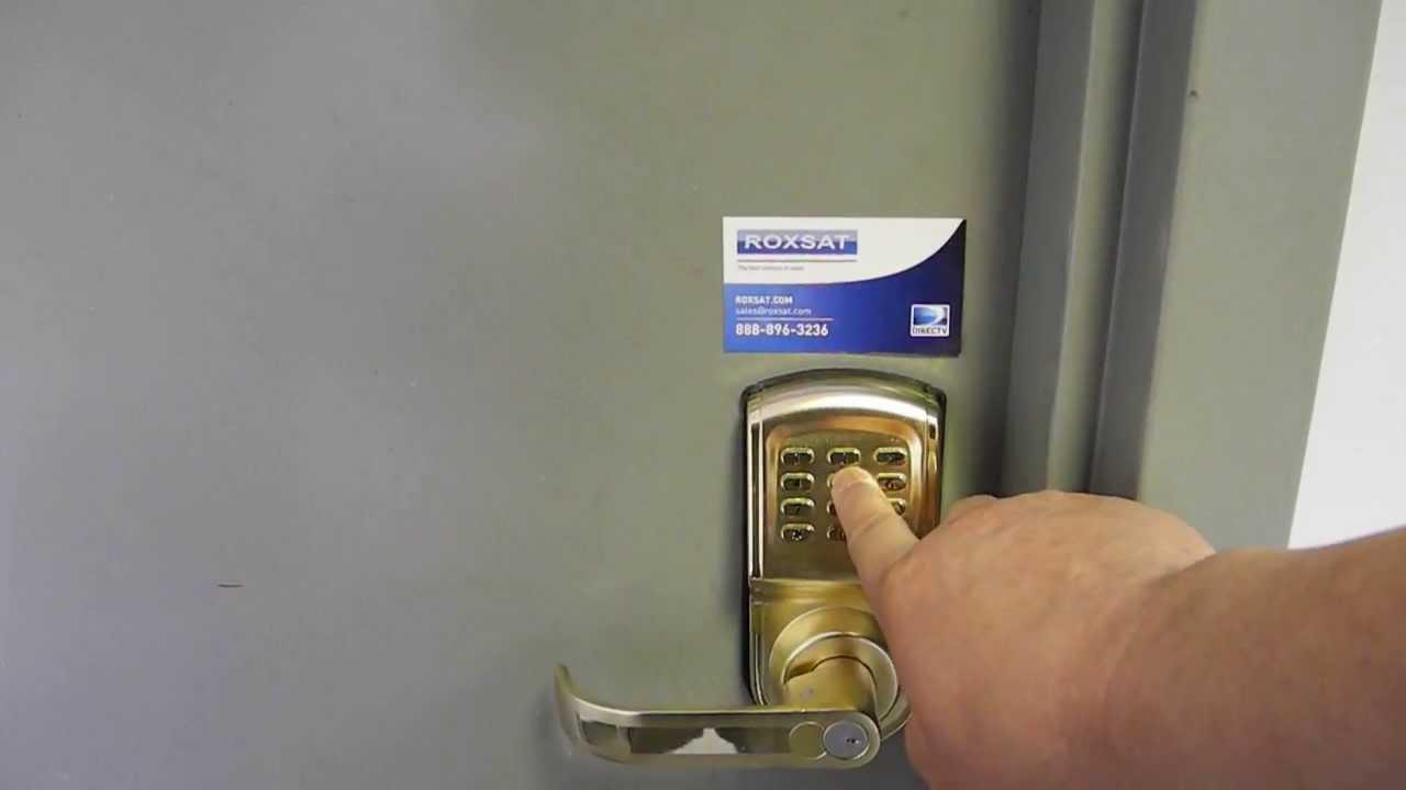 Roxsat Loc 808g Digital Keypad Door Lock Left Right Reversible Gold Keyless Electronic