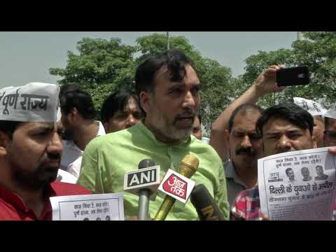 AAP Delhi Youth Wing Campaign on Full Statehood in Presence of AAP Delhi Convenor Gopal Rai