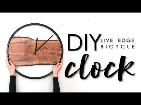 DIY Live Edge Bicycle Clock