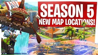 Season 5 New Fortnite Map Locations! - Paradise Palms, Lazy Links, Viking Village & More!