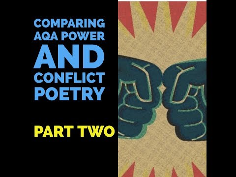 Comparing AQA poems Power and Conflict (part two).