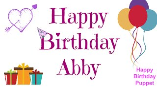 Happy Birthday Abby - Best Happy Birthday Song Ever