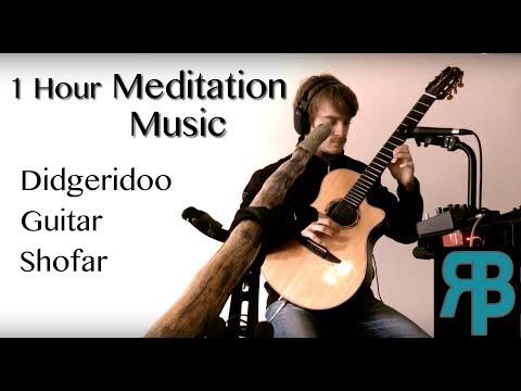 Meditation Music   1 hour of Deep Bass Didgeridoo, Guitar & Shofar (Headphones Required)