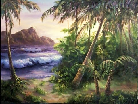 tropical island paint with kevin hill art painting youtube