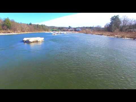 Narrowsburg new york,Delaware river,ice berg,dji phantom 3 professional 4k,