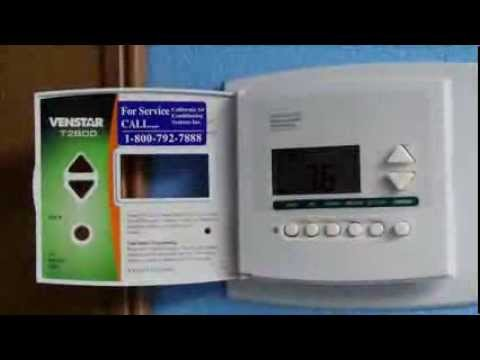 how to replace a digital thermostat - venstar t2800