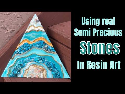 18. Using Semi Precious Stones in Resin Art