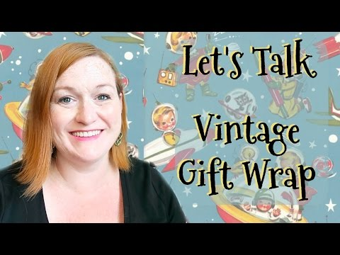 Selling Vintage Wrapping Paper - Flat Gift Wrap -  How to Find, Price and Ship