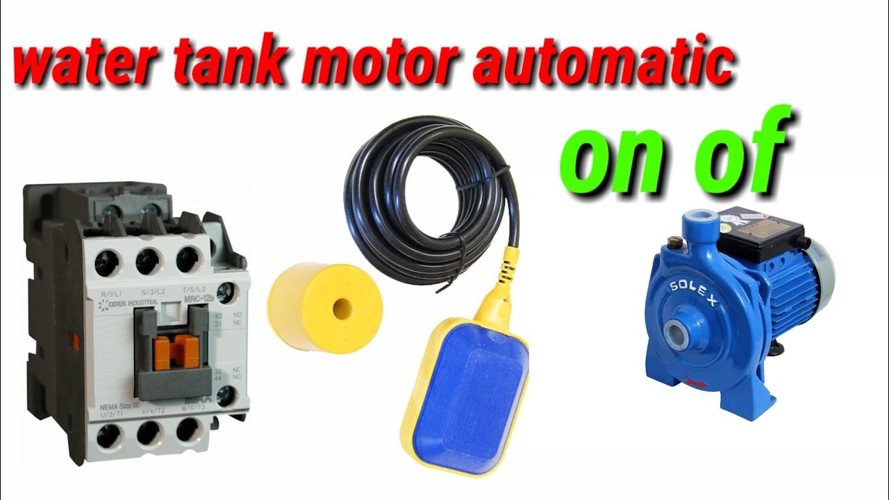 water pump motor automatic on off using float switch using urdu hindi  [ 1280 x 720 Pixel ]