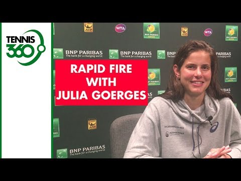 Rapid Fire with Julia Goerges at Indian Wells