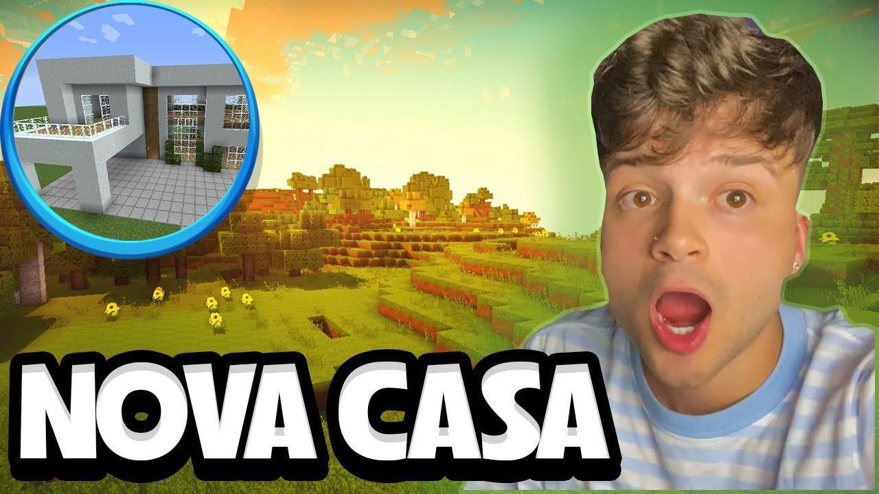 CONSTRUINDO NOVA CASA NO MINECRAFT  *procurando o novo terreno*  #8