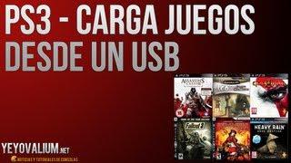 PS3 - Cargar juegos desde un USB o disco duro externo