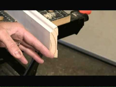 How To Cope Inside Corner With Coping Saw Video Youtube