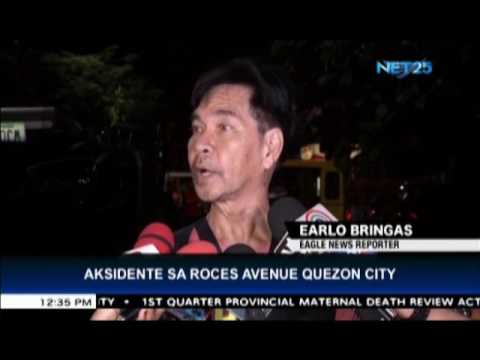Accident in Roces Ave , Quezon City