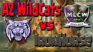 Miner League Clan War Recap | AZ Wildcats vs IronHorse | TH11 TH10 TH9 Clash of Clans