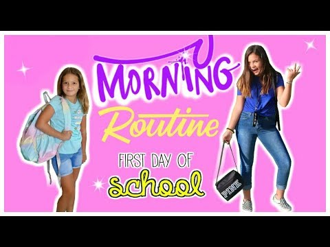 GRWM FIRST DAY OF SCHOOL   SISTER FOREVER