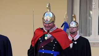 Mattarella alla cerimonia di cambio del Comandante del Reggimento Corazzieri