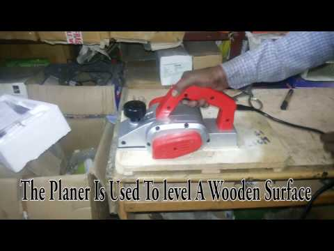 How to use an electric planer machine in wood working - Beginners guide | DIY India