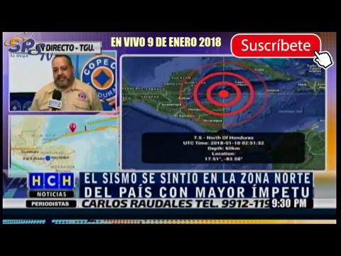 SPSTV. ULTIMA HORA TERREMOTO EN HONDURAS 9 ENERO 2018