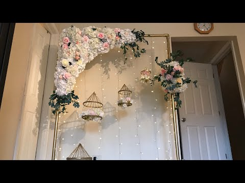 DIY- Floral Swag DIY- Floral Arch DIY-Wedding Decor