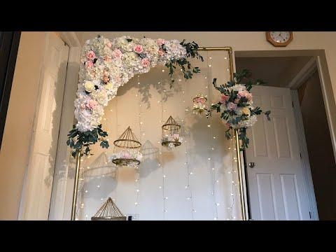 DIY- Floral Swag DIY- Floral Arch DIY-Wedding Decor