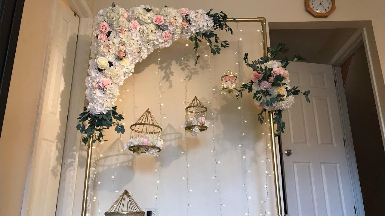 DIY Floral Swag DIY Floral Arch DIY Wedding Decor YouTube