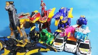 파워레인저 다이노포스 또봇 쿼트란 티라노킹 프테라킹 스피노킹 공룡변신 장난감 Power Rangers Dino charge & Tobot toys