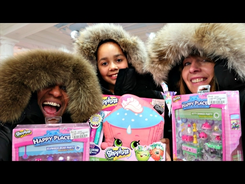 Shopping In Harrods London! Winter Fashion Clothing - Mega Toy Hunt Shopkins Surprise Toys