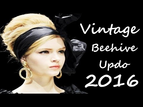 vintage-beehive-updo-for-long-hair-2016
