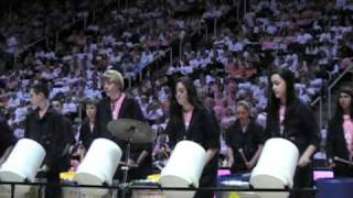 Ocoee Middle School Trash Can Band at UT Lady Vols game 2/21/11