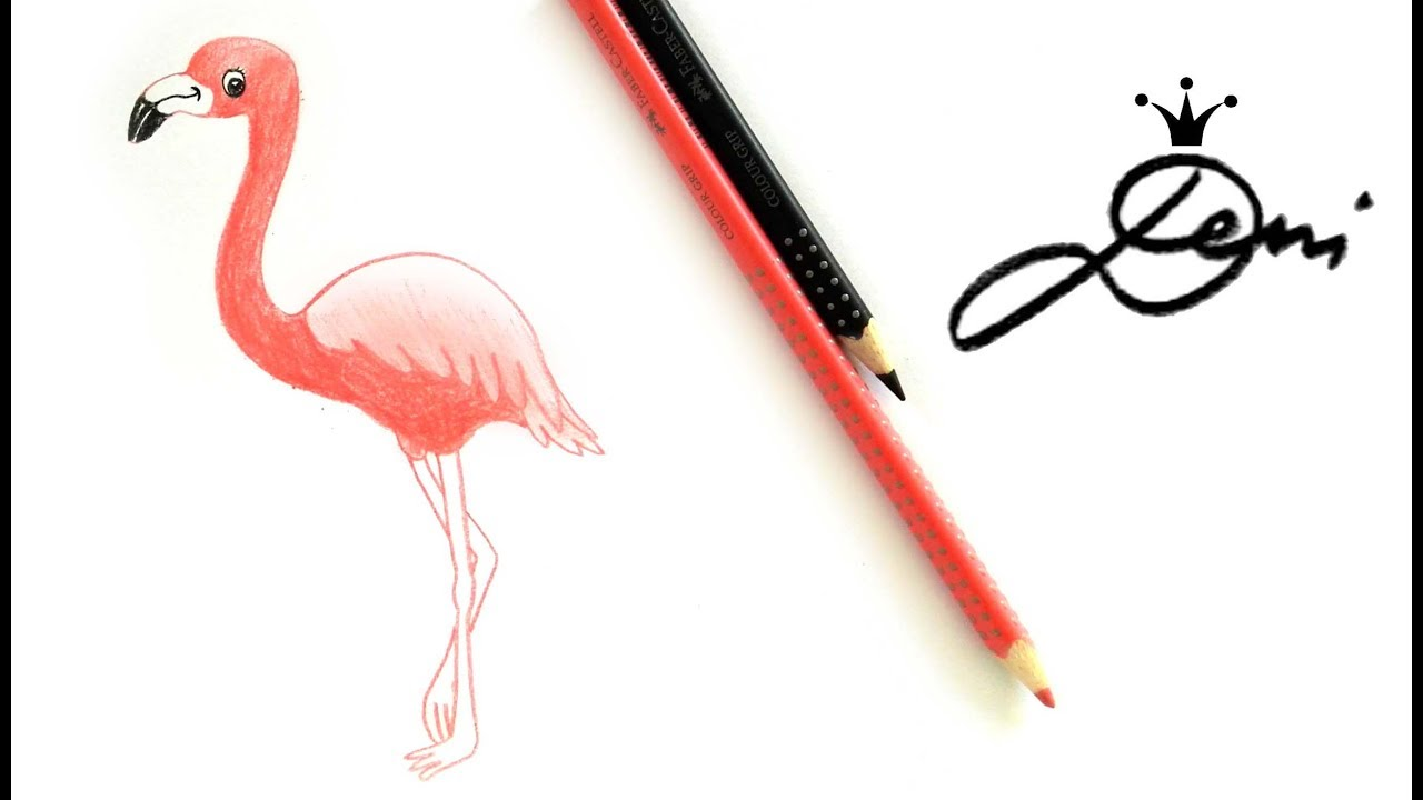 Flamingo Schnell Zeichnen Malen Lernen How To Draw A Flamingo
