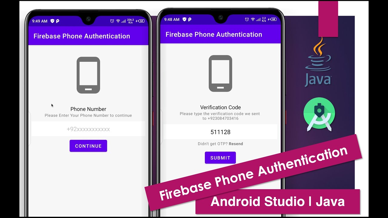 Firebase Phone Authentication   Android Studio   Java