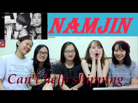 [BTS fangirl reaction] NAMJIN is REAL!!! - Couple series
