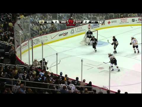 Bruins come back in the last 3:23 to beat Pittsburgh 4-2 1/10/11 1080p HD