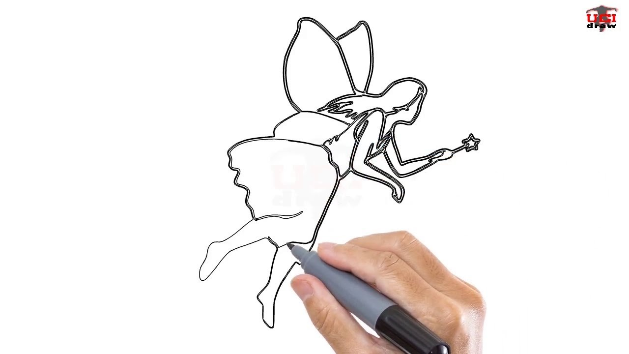 How To Draw A Fairy Easy Step By Step Drawing Tutorials Ucidraw Youtube
