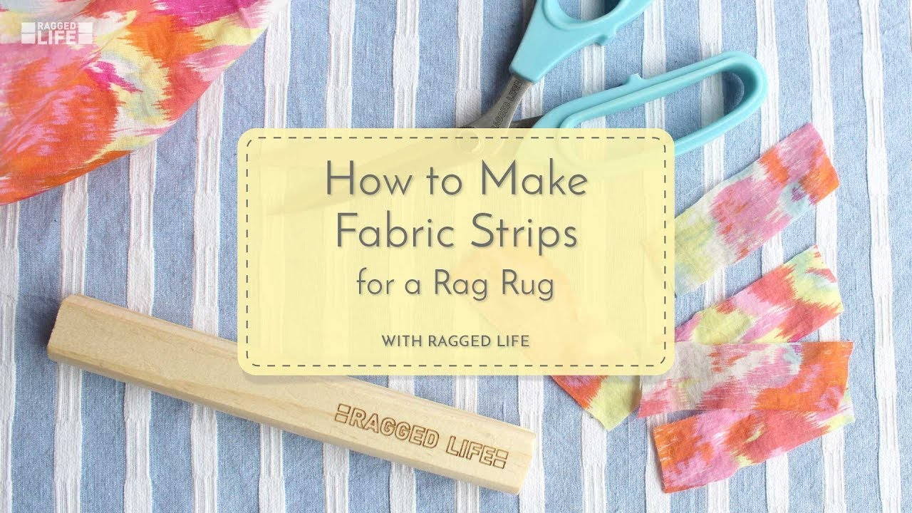 How To Make Fabric Strips For A Rag Rug With Elspeth Jackson Ragged Life