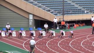 2013日本インカレ女子100m予選8組島田沙絵12.11(+1.5) Sae Shimada1st