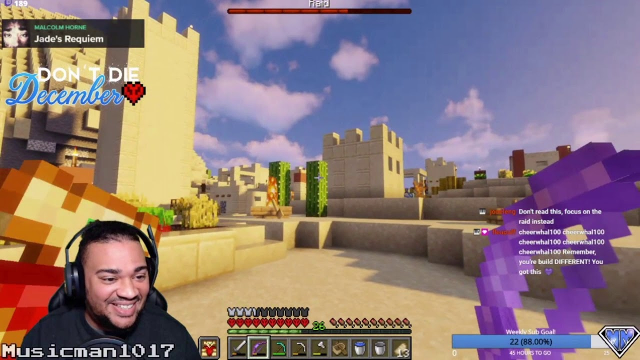 Don't Die December Hardcore SMP Day 3 Highlights! Popped totems, Pillager Raid, and scary Nether!