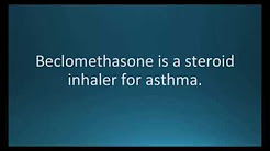 How to pronounce beclomethasone (Qvar) (Memorizing Pharmacology Flashcard)