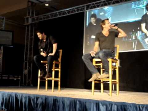 JIB2 Sunday Panel  Misha Collins & Sebastian Roché
