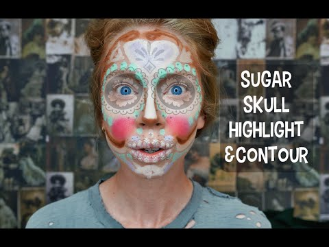 sugar-skull-highlight-&-contour!