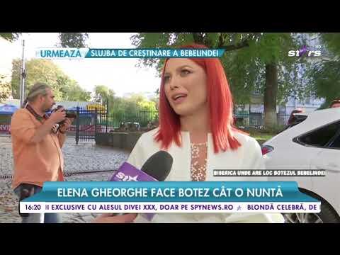 Elena Gheorge face botez cât o nuntă. Elena: Am visat mult la momentul acesta