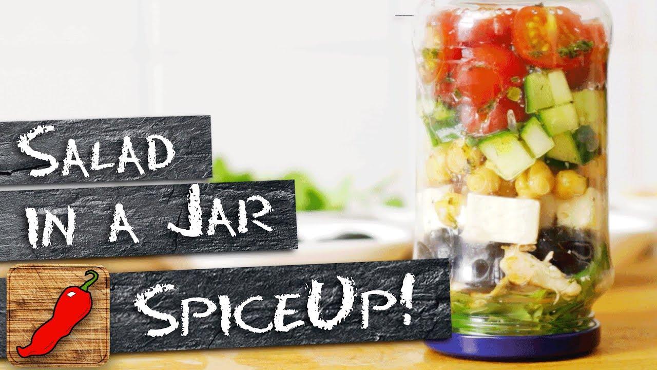 Salad in a Jar - Essen zum Mitnehmen I SpiceUp! - YouTube