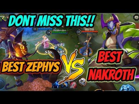VEX190 Nakroth vs. Darkbreaker Zephys | Arena of Valor Zephys Gameplay