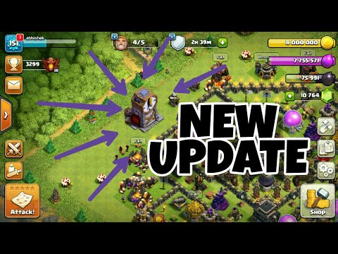 CLOCK TOWER IN HOME VILLAGE OF CLASH OF CLANS | NEW UPDATE CONCEPT OF COC