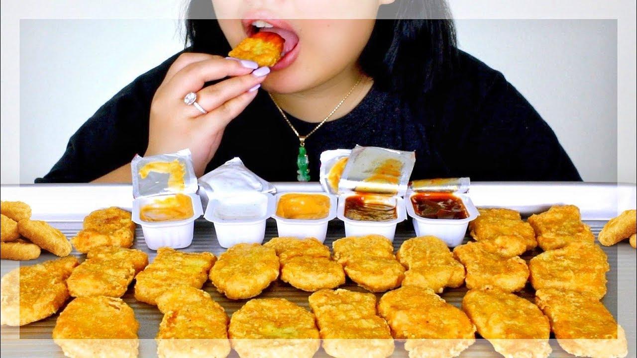 Asmr Mcdonalds Chicken Nuggets Auzsome Austin Challenge Eating Sounds No Talking