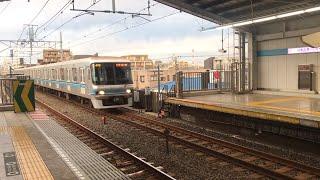 東西線東京メトロ07系一次型南行徳駅入線