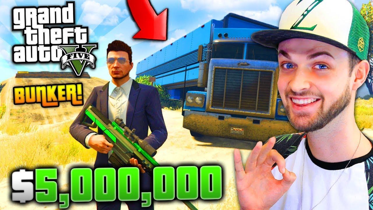new bunker truck crazy sniper 5 000 000 gta 5 w ali a