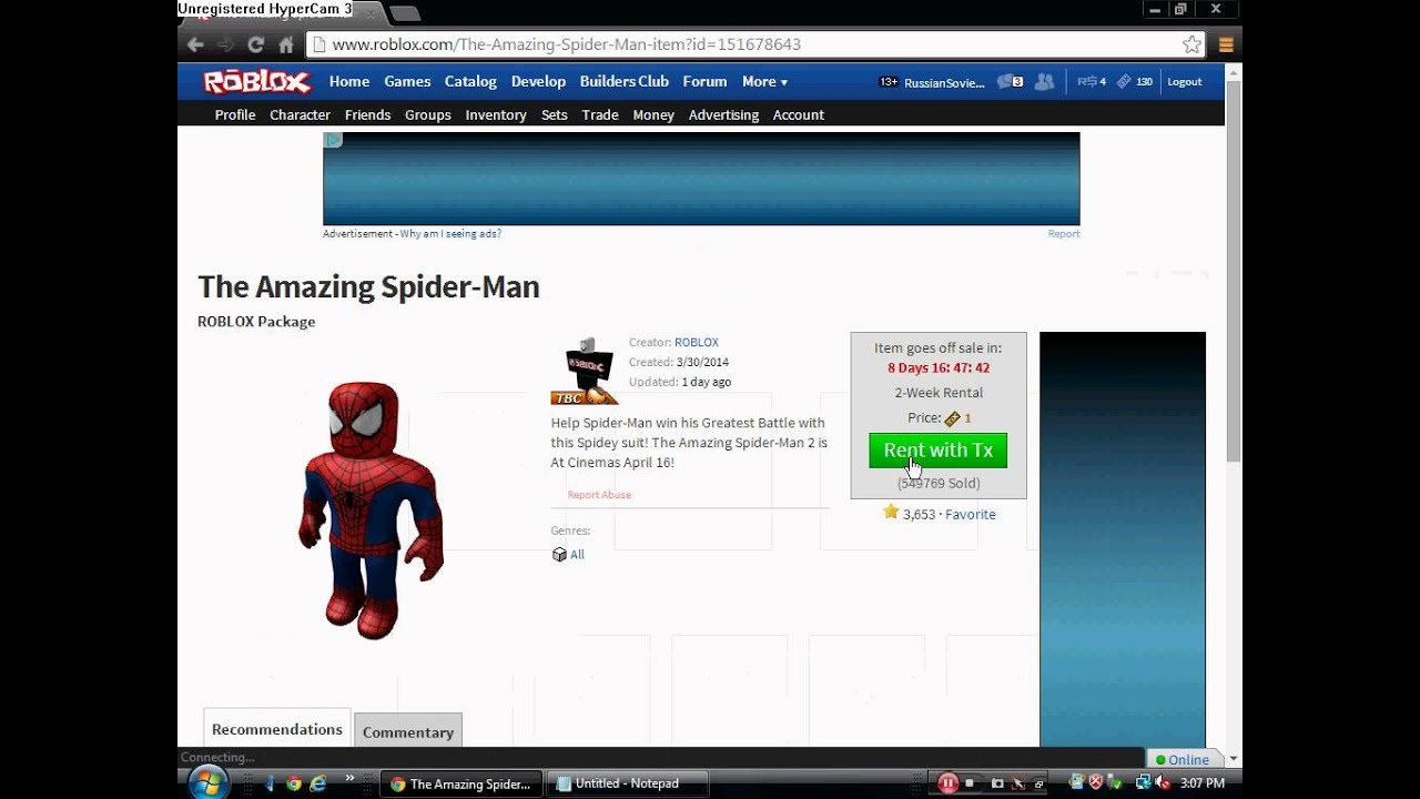 How to get the Spiderman package forever ROBLOX - YouTube